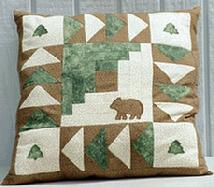 Bears in the Woods pillow pattern